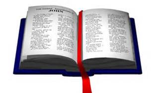 open bible blue with red marker
