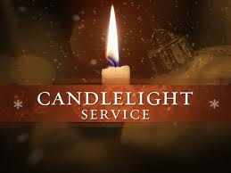 Candlelight service labeled